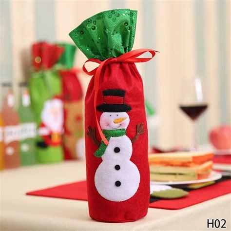 Santa Claus Wine Bag 1pc decorations for home santa claus wine bottle