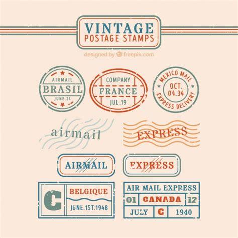 imagenes vintage sellos colecci 243 n de sellos vintage descargar vectores premium