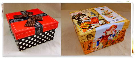 Decoupage Cardboard Box - boulevard de l antique last minute idea for a special