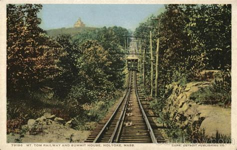 mt holyoke summit house mt tom railway and summit house holyoke ma postcard