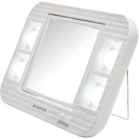 Lighted Makeup Mirror Walmart by Jerdon J1015 Led Lighted Makeup Mirror With 5x