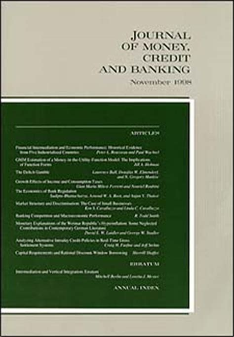 e submit secure submissions to journal of money credit and banking