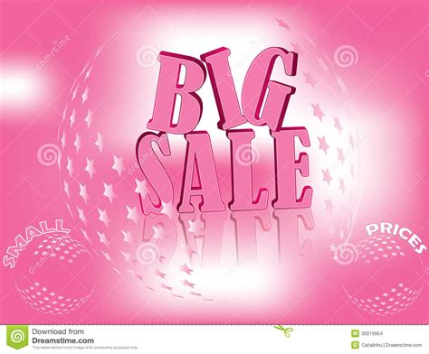 Pink For Sale by Pink Big Sale Banner For Business Stock Images Image