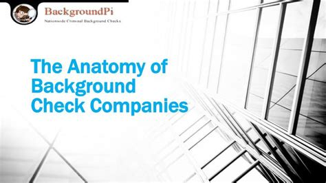 Background Check Companies Ppt The Anatomy Of Background Check Companies Powerpoint