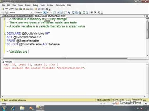 node js tutorial hindi how to declare and initialize variables in t sql part 1