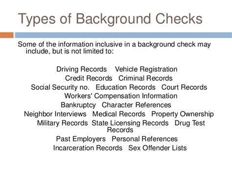 Types Of Background Check Presentation Negligent Hiring Due To Lack Of Background Checks