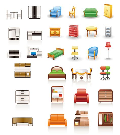 Household Furniture Furniture Icon Vector Vectors Free Vector