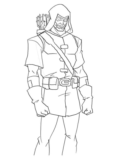 Green Arrow Coloring Book Pictures To Pin On Pinterest Green Arrow Coloring Pages