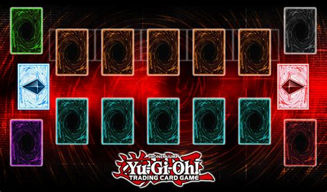 yugioh mat card zone template pendulum playmat by grezar on deviantart