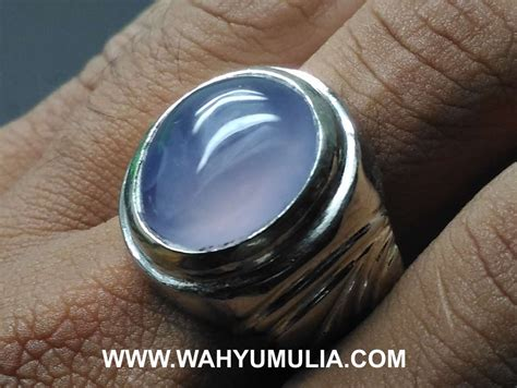 Biru Langit Asli Galian Baturaja batu cincin akik biru langit baturaja asli kode 586