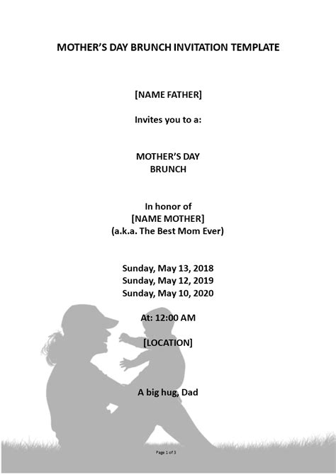 Mothers Day Event Invitation | Templates at