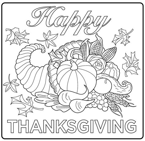 coloring pages for adults turkey thanksgiving harvest cornucopia thanksgiving coloring