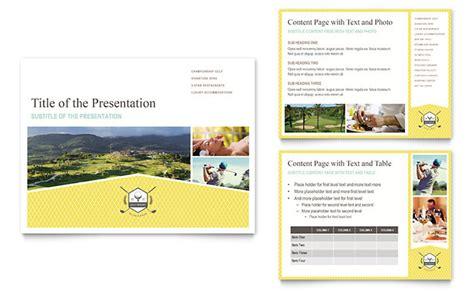 presentation templates for tourism golf resort powerpoint presentation template design