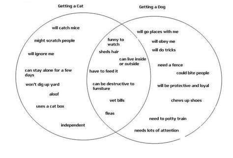 venn diagram of hypothesis and theory using a venn diagram for a compare and contrast essay