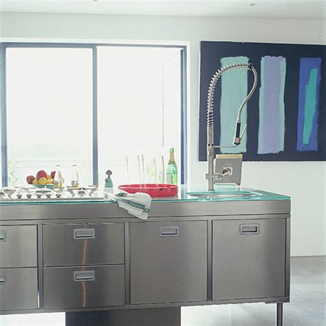 Industrial Style Kitchen Units by Kitchen With Stainless Steel Units Ideal Home