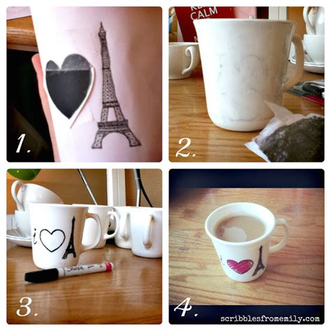 tutorial design mug scribbles from emily tutorial dishwasher safe sharpie mugs