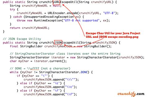 pattern java char escape character utility for url and json data free to