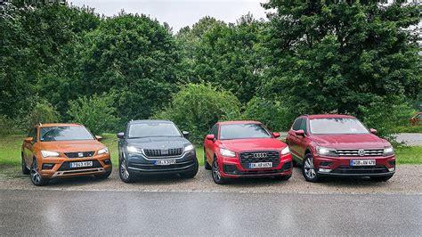 Skoda And Audi by Seat Ateca Vs Skoda Kodiaq Vs Audi Q2 Vs Volkswagen Tiguan