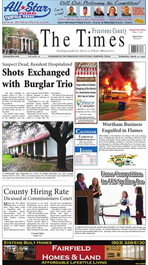 sunday independent sports section freestonecountytimes031115 by karen leidy issuu