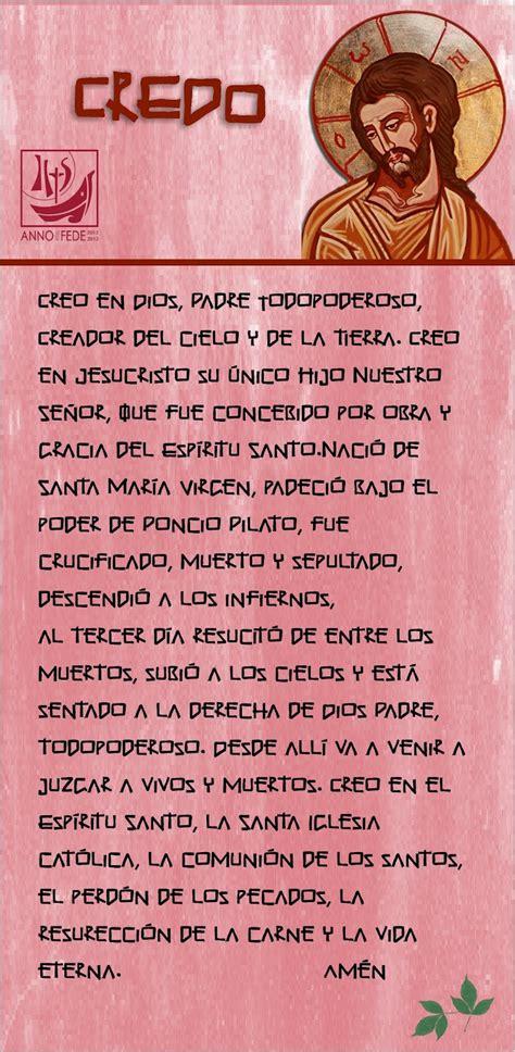 imagenes oraciones catolicas en ingles tarjetas y oraciones catolicas credo de los ap 211 stoles