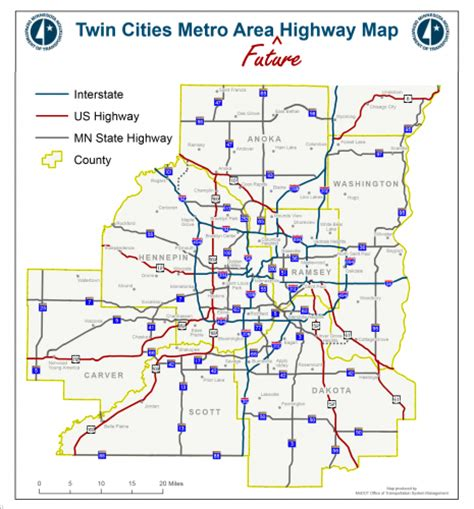 future road map introducing the cities metro area future highway map