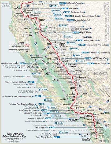 pct oregon map map of oregon pacific crest trail 28 images detailed