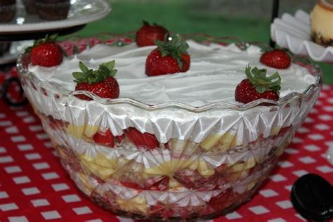 me and my pink mixer strawberry punchbowl cake