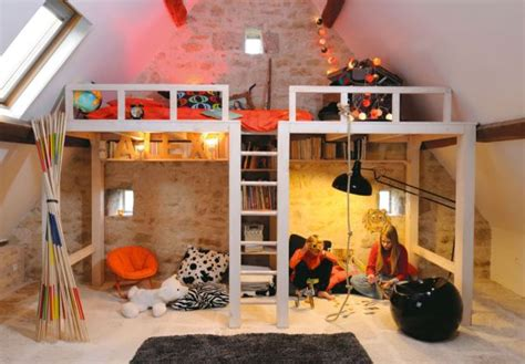 girls room that have a office up stairs sleep and play 25 amazing loft design ideas for kids