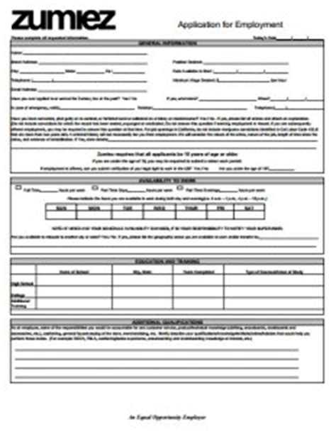 printable job application for zumiez job applications online largest real estate brokerage