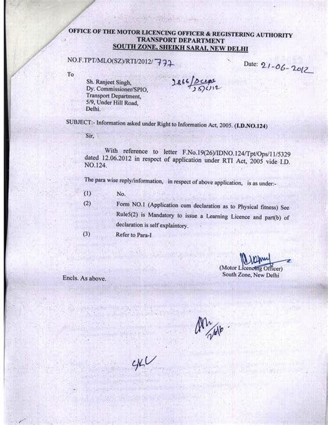 Confirmation Letter Rc Delhi 2 driving license for with monocular vision lostvision org