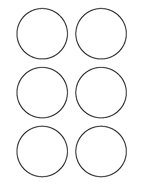 circle stencil template 3 inch circle pattern use the printable outline for
