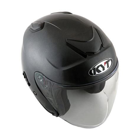 Helm Kyt Kyoto jual kyt kyoto helm half solid black matt harga kualitas terjamin blibli