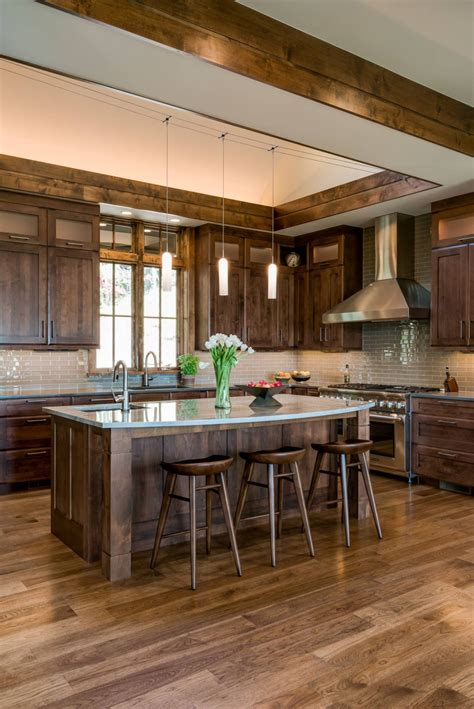 stained wood kitchen cabinets 10 types of rustic kitchen cabinets to pine for