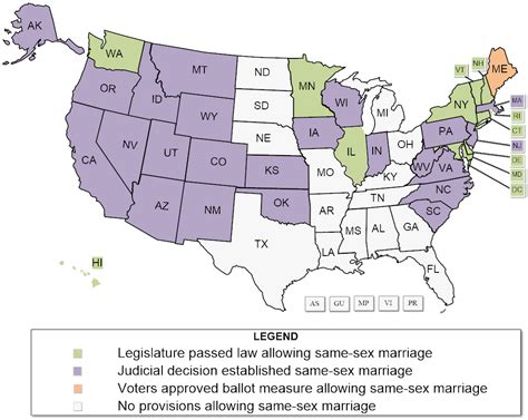 States that have legal gay marriage