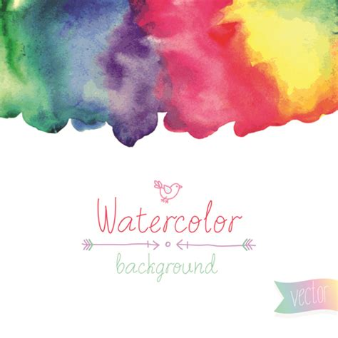 watercolor elements vector background material 01 over