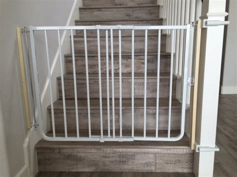 Baby Gate For Bottom Of Stairs Banisters by Baby Safety Gate Installation Baby Safe Homes