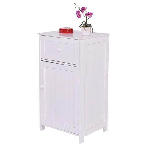 Bathroom Cabinet Storage Organizers Bathroom Storage Cabinet Floor Stand White Wood Furniture Organizer Kitchen Bath Ebay