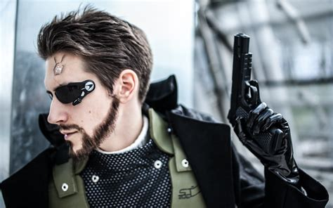 deus ex machina movie adam jensen cosplay closeup by videros on deviantart