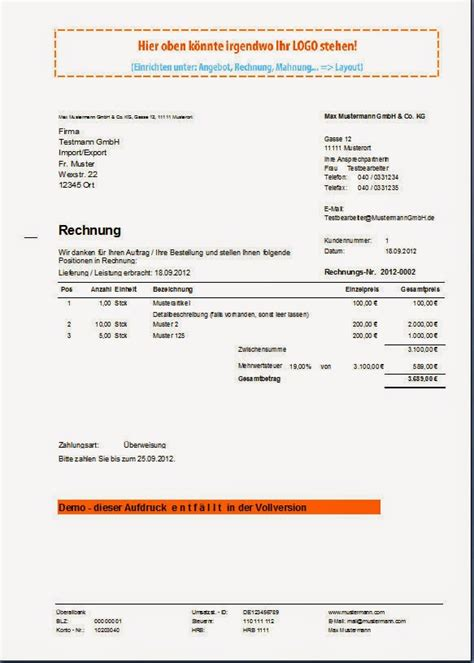 Rechnung Kleinunternehmer Ohne Steuernummer Rechnungsprofi Software Tools Softwareentwicklung Lieferschein Und Rechnung