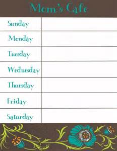 printable dinner menu template 8 best images of free printable weekly dinner menu and