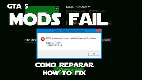 gta 5 mod script hook gta 5 mods fail how to fix como corrigir script