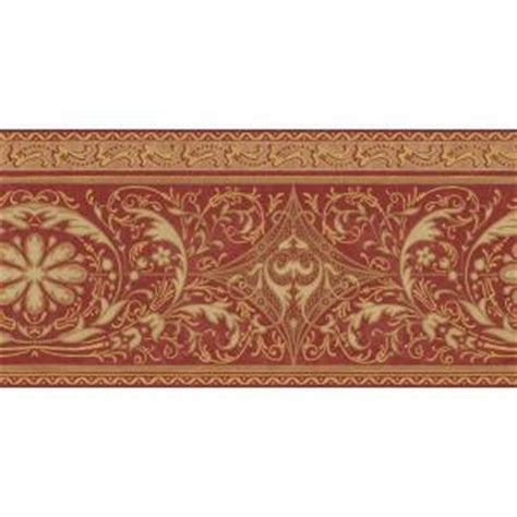 gold wallpaper home depot the wallpaper company 10 in x 8 in red and gold filigree