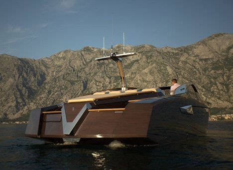 boat speed yacht builders luxury wooden speed boat quot antagonist quot by serbian yacht