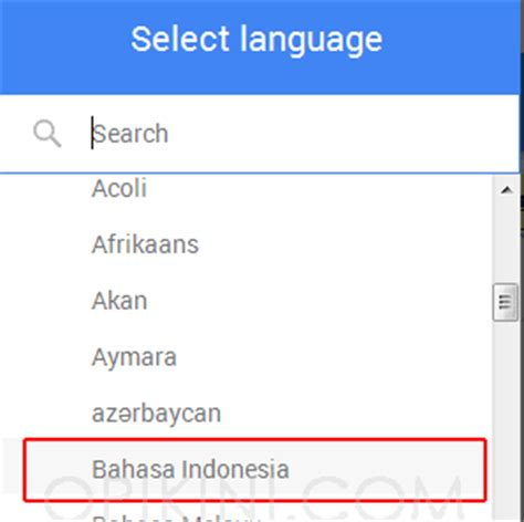 membuat akun google dalam bahasa indonesia cara merubah pengaturan bahasa di akun google gmail