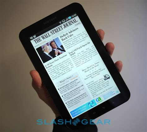 wsj app for android slashgear gets their on the wall journal app for android tablets on the samsung