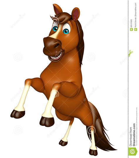 imagenes vectores caballos personaje de dibujos animados de salto del caballo stock