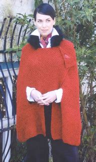 maggie jackson knits ravelry castleconnell cape with faux fur collar pattern