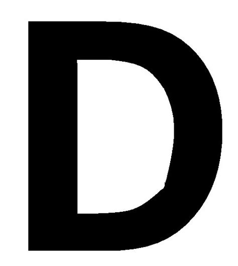 printable large letter d large printable letter d pictures to pin on pinterest
