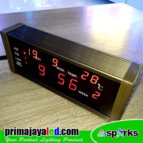 membuat jam digital led mini jam digital led prima jaya led
