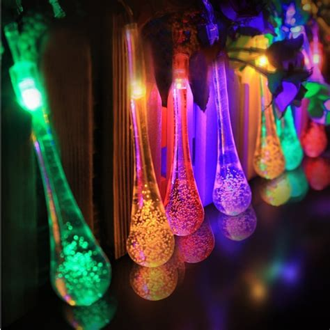 Aliexpress Com Buy 30 Led Solar Powered Water Drop String Lights For Weddings